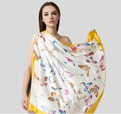 #fashion #scarves #illustration #womenswear #silkscarf The new silk scarf. 100% Silk Just check out here - www.seres-silk.com