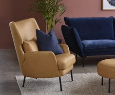 NORDIC ALEX Hvilestol Wingback Chair, Armchair, Accent Chairs, Living Room, Furniture, Home Decor, Sofa Chair, Upholstered Chairs, Single Sofa