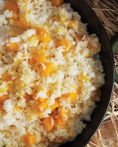queamish Squash with Rice (Halloween Party Food Recipes Ideas, scream worthy savories)