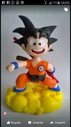 Polymer Clay Figures, Fondant Figures, Dragon Z, Dragon Ball Z, Bolo Original, Cold Porcelain, Gum Paste, Goku, Boy Birthday
