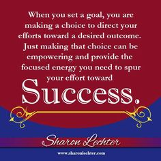 This is such a great Quote! I would add - Belief in yourself and removing those in your life that do not align with your goal will help keep you focused on the success of the goal! // Motivational Quote  //  Inspirational Quotes  //  Success  //  Achievements  //  Move Forward  //  Make a Choice  //  Life Lessons  //   #SeanPStone @FormulaSean