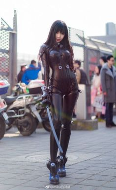 Tagged with cosplay, anime, gantz, reika; Shared by venomir. Reika (Gantz) by 一罐儿一 Cosplay Anime, Cosplay Girls, Amazing Cosplay, Best Cosplay, Medieval Combat, Goth Beauty, Cosplay Costumes, Science Fiction, Sexy