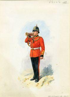 British; Royal Engineers, Bugler , c.1910 by R.Simkin