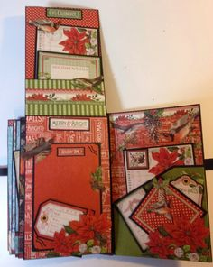 Graphic 45 Time to Flourish 8 x 5 mini album by Anne Rostad