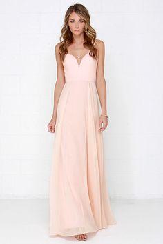 Bariano My Sweetheart Peach Maxi Dress at Lulus.com!