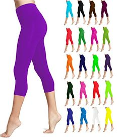 Lush Moda Seamless Capri Length Basic Cropped Leggings - Variety of Colors  Super Soft and Stretchy Seamless Fit (90% Polyester 10% Spandex Blend) comes in variety of Colors  One size fits most (XS - XL)  Wide Comfortable Waistband that does not dig into your skin  Seamless design for better fit and comfort. Comes in variety of colors to suit your needs.  Satisfaction Guarantee. Buy Risk-Free. If you are not happy with this product for any reason, you are welcome to return it free of c...