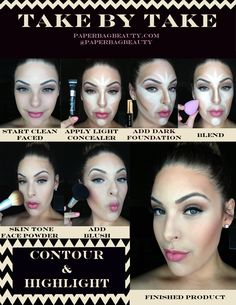 Contour and Highlight Pictorial. I know I've pinned a million of these but you can never have though know how.
