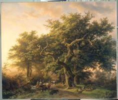 Barend Cornelis Koekkoek, Forest Scene. 1848