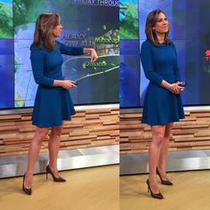 wears this morning. Ginger Zee, Work Dresses For Women, Tv Presenters, Cool Style, My Style, Mini Shorts, Classic Looks, My Wardrobe, My Outfit
