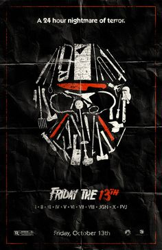 Friday the 13th Movie Poster $20