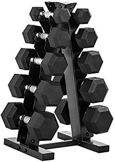 CAP Barbell Dumbbell Set with Rack, Optional Bench, Multiple Options - Enewsgate Rubber Dumbbells, Hex Dumbbells, Adjustable Dumbbells, Dumbbells For Sale, Dumbbell Set With Rack, Dumbbell Weight Set, Dumbbell Rack, Strength Training Equipment, Workouts