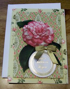 Handmade Birthday Card   Anna Griffin Design and by claynfaye, $3.00