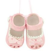 Personalized Baby Girl Shoes Ceramic Ornament