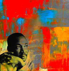 MLK Dreams - #art available on #canvas #metal #framed prints, and #iphone and #galaxy covers: http://michelle-wilmot.artistwebsites.com/featured/mlk-dreams-michelle-wilmot.html?newartwork=true