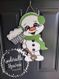 Christmas Ornament Crafts, Snowman Crafts, Christmas Door, Primitive Christmas, Christmas Signs, Primitive Snowmen, Primitive Crafts, Country Christmas, Christmas Christmas