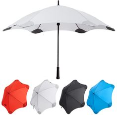 Blunt Umbrellas: An aerodynamic umbrella which sits effortlessly in the wind and is free of sharp points, sharp edges and weak points. $70 via moderngadget.com #Umbrella #Blunt_Umbrella