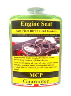 Specifications  Permanently Seals:Cracked Cylinder Heads,Blown Head Gaskets, All Block Leaks.  Permanently Seals: Works On: Cracked Cylinder Heads Gasoline and Diesel Engines Blown Head Gaskets Cast Iron or Aluminum Blocks & Heads Intake Gasket Leaks MLS - Multi Layer Steel Gasket  All Block Leaks Copper Head Gaskets Other Severe Coolant Leaks  Composite Head Gaskets