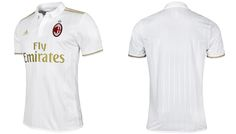 Camisas do AC Milan 2016-2017 Adidas Reserva