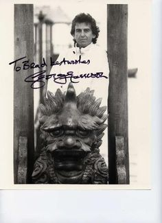 a beautiful signed photo of George <3