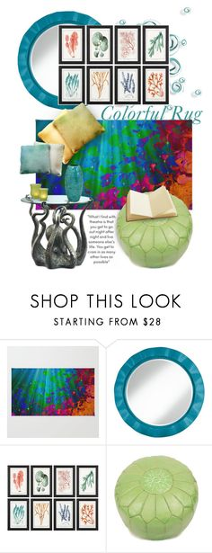"""Under the Sea - Colorful Rug *contest*"" by designsbyqueen ❤ liked on Polyvore featuring interior, interiors, interior design, home, home decor and interior decorating"