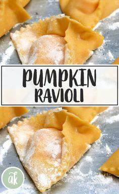 Homemade Ravioli, Ravioli Recipe, Homemade Breads, Pumpkin Ravioli, Roast Pumpkin, Sicilian Recipes, Sicilian Food, Ravioli Filling, Savory Pumpkin Recipes