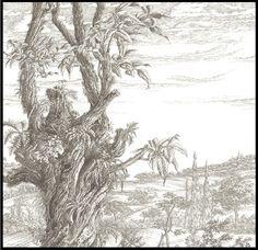 hermes behang landschap