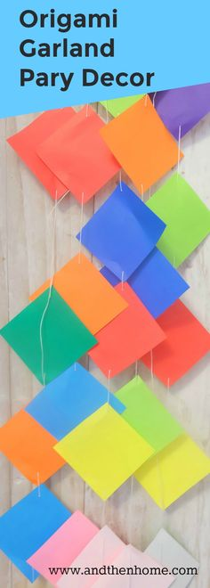 Do you have a party to plan? Need some colour to add to the celebration? This craft can be used as at any celebration – birthday party decor, retirement party decor, bridal showers, baby showers and even a summer barbecue! Origami Garland, Diy Origami, Origami Paper, Retirement Party Decorations, Retirement Parties, Birthday Party Decorations, Summer Barbecue, Bridal Showers, Baby Showers