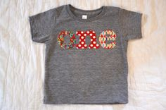 Birthday Shirts for Babies One Birthday Shirt Raw Edge Applique