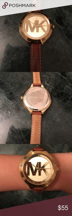 Michael Kors leather watch Authentic leather Michael Kors Watch. Beautiful, gently worn. Barely use anymore - reason for selling. Michael Kors Accessories Watches