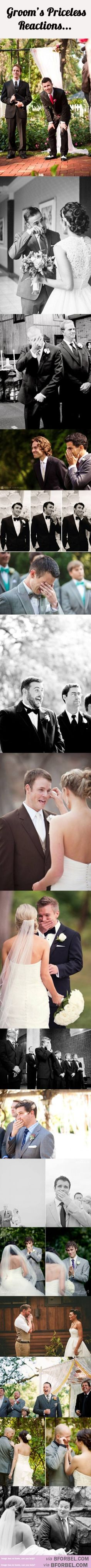 17 Priceless Reactions From Grooms When They See Their Brides For The First Time…