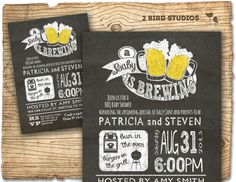 BBQ BEER baby shower invitation - BaBy Q invite- Coed barbecue couples printable baby shower invitation on Etsy, $20.00