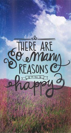 Hay muchas razones para ser feliz!!