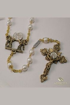 Holy Communion Antiqued Rosary