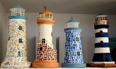 tejas decoradas faros marinos - Buscar con Google Clay Pot Projects, Clay Pot Crafts, Diy Clay, Clay Pot Lighthouse, Lighthouse Decor, Boys Bathroom Decor, Beach Theme Bathroom, Flower Pot Crafts, Flower Pots