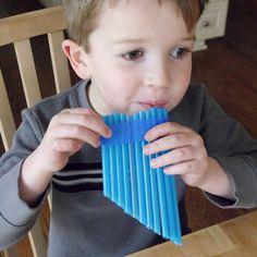 Straw Pan Flute Craft an easy craft that kids can make on their own! is part of Simple Kids Crafts Musical Instruments - This straw pan flute is so easy to make that kids can make it all on their own! You just need straws, tape, and scissors Music Crafts, Fun Crafts, Arts And Crafts, Simple Crafts, Easy Kids Crafts, Craft Kids, Rock Crafts, Creative Crafts, Babysitting Activities