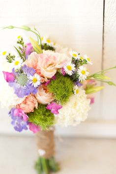 Spring or Summer Bouquet | See the wedding on SMP - http://www.stylemepretty.com/2013/01/03/lodi-california-vineyard-wedding-from-marin-kristine-photography/ Marin Kristine Photography