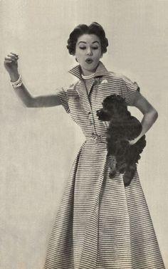 1950's Horrockses cotton stripes