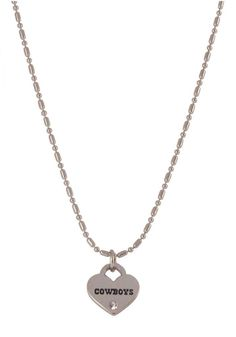 Dallas Cowboys Silver Chain Mini Love Heart Womens Necklace | Dallas Cowboys Womens Necklace http://www.rallyhouse.com/shop/dallas-cowboys-100886456 $12.99