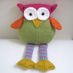 PDF Knit Owl Pattern by AmyGaines on Etsy