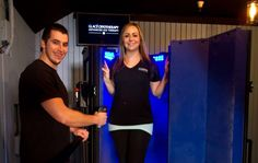 Glacé Cryotherapy in Carmel, Calif. The act of standing in a nitrogen chamber, called a Cryosauna, at below freezing temperatures for two to three minutes at a time supposedly detoxes the body, reduces inflammation and retards aging.