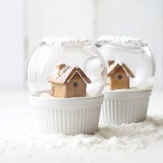 Pâtisserie boule à neige / snow gobes that you can eat !