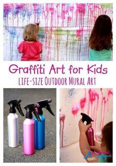 Graffiti Art for Kids - Life-Size Outdoor Mural Art