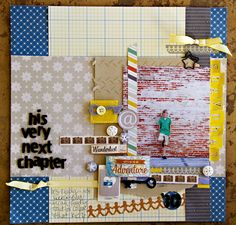Next Chapter - by Leslie Ashe using Chap and Amy Tangerine by American Crafts
