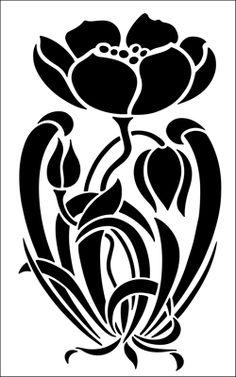 Motif No 62 stencil from The Stencil Library ART NOUVEAU range. Buy stencils online. Stencil code DE252.