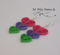 Crea Quilling : Some earrings