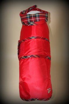 The Dachshund Shop - Rain Coats - Red Tartan Rain Coat
