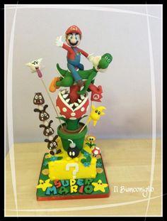 Supermario and Yoshi - Cake by ilbianconiglio15