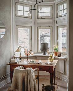 Helsingborg, Workspace Inspiration, Interior Inspiration, Interior Decorating, Interior Design, Bedroom Vintage, Home Office Design, House Design, Dream Decor