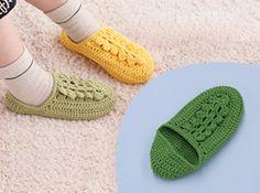 Slippers crochet free pattern - japanese chart