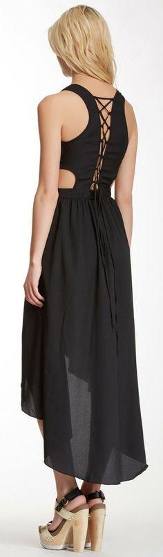 Black Laceup Dress